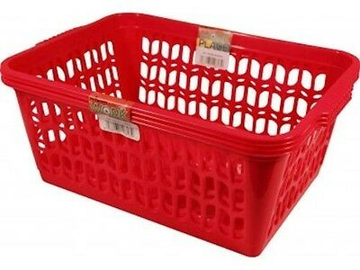 Wham Red Set of 2 Large Plastic Handy Basket