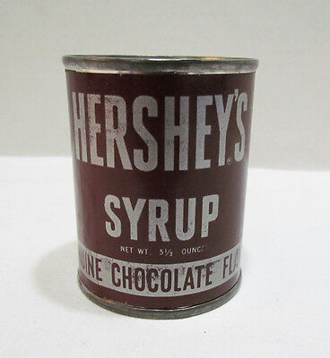 HERSHEY'S CHOCOLATE SYRUP AIR FILLED CAN c. 1950's VINTAGE SALESMAN SAMPLE