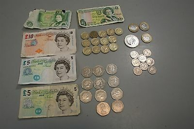 Lot of British Pounds Coin & Paper Currency for Exchange (A)