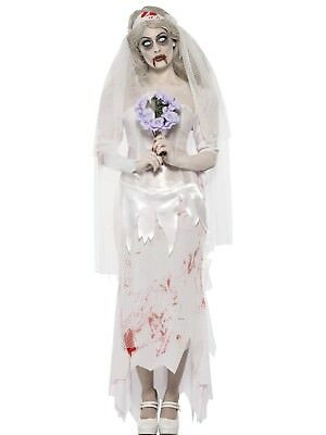 Till Death Do Us Part Zombie Bride Horror Scary Halloween Costume With Veil
