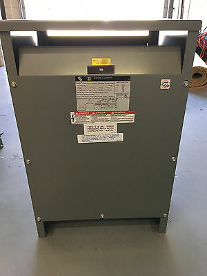 used SQUARE D TRANSFORMER : 45T3H : 45kva : 480 / 208Y / 120