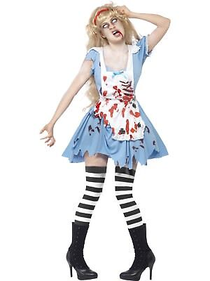Zombie Malice Alice Horror Fairytale Blue Costume Halloween Fancy Dress