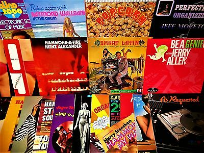 VINYL LP BIG LOT Hammond Organ Moog Synthesizer Loungecore Easy Popcorn Dan Hill