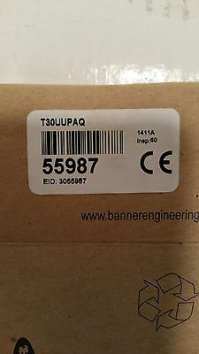 Lot Of 2 Banner, Ultrasonic Sensor, T30Uupaq, U-Gage, 0621A, 15-24V Dc