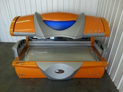 USED 2 MONTHS! Ultra Sun Turbo Power 25.000S XOM Orange Commercial Tanning Bed