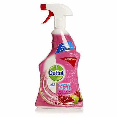 2x Dettol Anti-Bacterial Multi Action Cleaner Power & Fresh Spray Pomegranate 1l