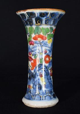 Chinese Antique Clobbered Porcelain Vase 18th Century
