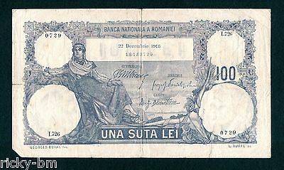KINGDOM ROMANIA - 100 lei December 1916 . Rare issue banknote.  Rumania