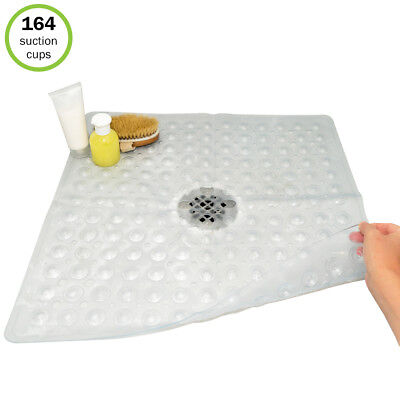"Evelots® Non Slip Bath & Shower Mat With Powerful Suction Cups, 21"" X 21"""