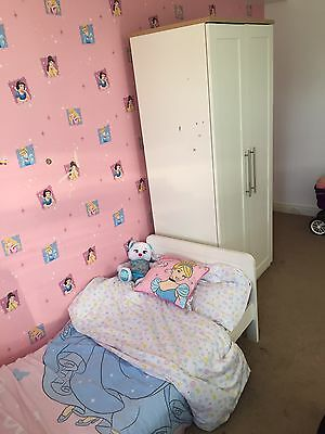 White Toddler Bed And Wardrobe - Mamas And Papas