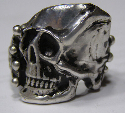 Rare Death Skull ring Solid .999 silver