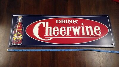 Authentic Replica 100th Anniversary Cheerwine Soda Soft drink Pop Tin Sign #623
