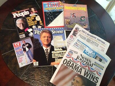 Lot of magazines 1980s-2008-Rolling Stone, Time, TV Guide, Southern Living,etc.