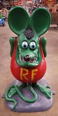 RAT FINK 3' CAST ALUMINUM Statue Mobile Texaco Gulf Gas & Oil Garage Hot Rod.
