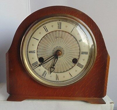 Smiths 1930s  Chiming Mantle Clock unusual movement + key