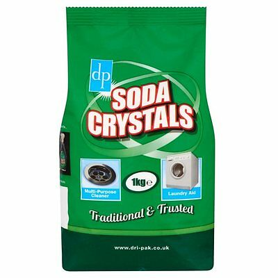 Soda Crystals For Household Cleaning Unblock Drains- Dri-Pak 1kg Bag