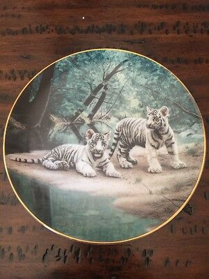 """Bradford Exchange """"Partners"""" By Charles Frace Collectible Cat Plate"""