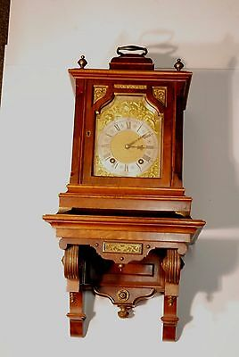 Antique Walnut Lenzkirch Bracket Clock With Wall Bracket