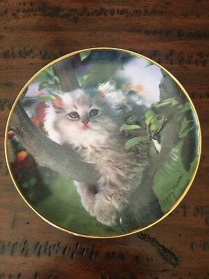 Out On A Limb Decorative Cat Plate by Nancy Matthews for Franklin Mint