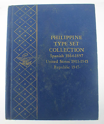 Philippines Type Set Coin Collection Spanish United States Republic *FULL BOOK*