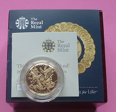 2016  Uk Gold Proof £1 One Pound Coin - Last Round Pound