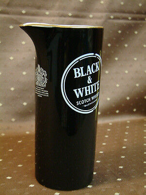 RAR BLACK & WHITE SCOTCH WHISKY KRUG WADE England Eis Wasser Krug