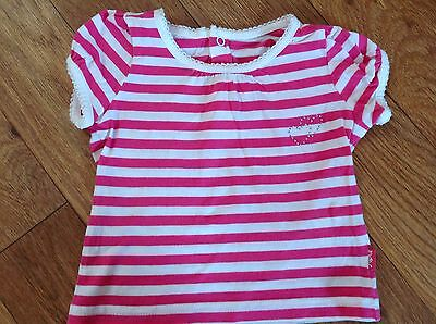 Pumpkin Patch Baby girls Size 0 Short sleeve Top Pink White