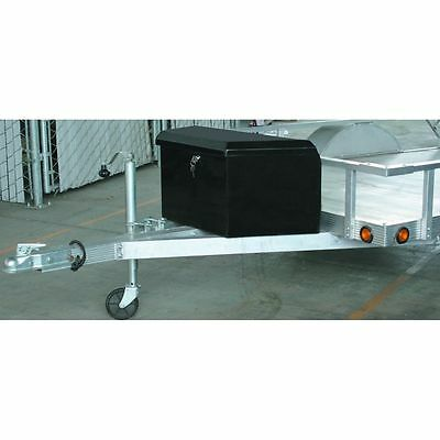 2-1/4 Cubic FT Steel Trailer Tongue Box Durable Sheet Steel Weatherproof Storage
