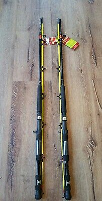 SALE Lot of 2 Zebco Quantum Hawg Seeker 7' MH Casting Fishing Rod Catfish Carp