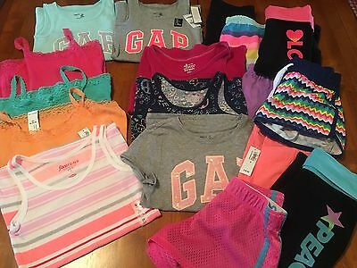 17 Piece Girls GAP And Old Navy Cami, Shorts & Tank LOT!! Size 8
