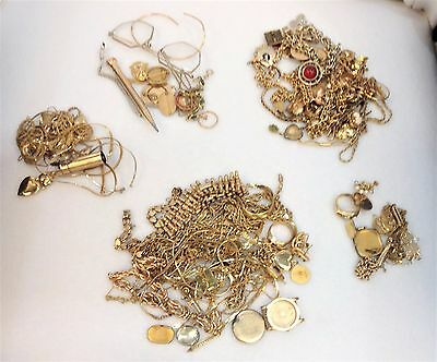 Vintage Stamped Gold Filled Lot Jewelry, Watches, Scrap, Chain, Bracelets 750 GR