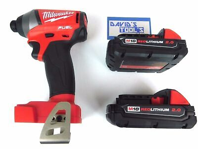 Milwaukee M18 FUEL 18V 2753-20 1/4 in Hex Impact Driver w/ 2.0 Battery 2 pack