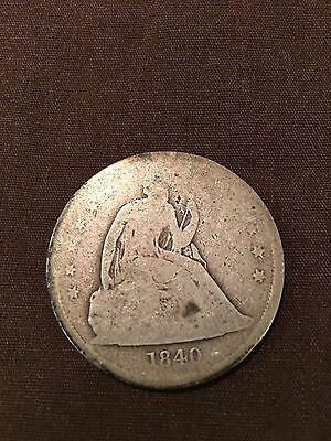 1840 Sitting Lady liberty Silver Dollar