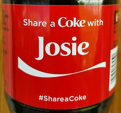 Summer 2015 Share A Coke With Josie Personalized Coca Cola Collectible Bottle