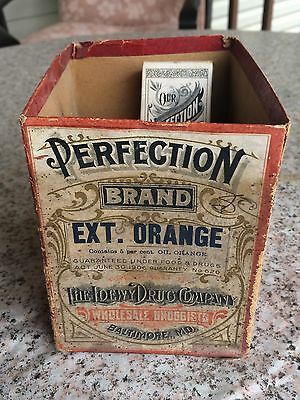 Vintage Loewy Drug Company Druggist Advertising Display Box Baltimore Md Extract