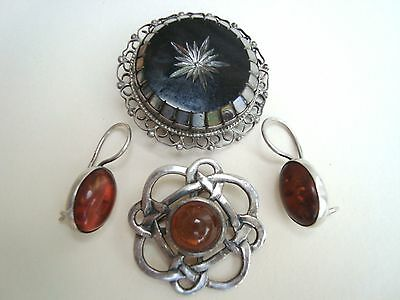Sterling Silver estate lot Jewelry Pieces Vintage art deco pins & button clips