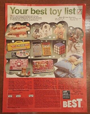 Vintage Star Wars Kenner BEST Christmas 1980 Catalog The Empire Strikes Back