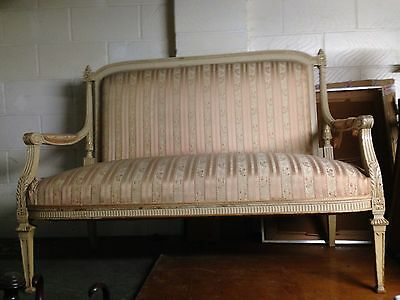 A GOOD 19th CENTURY PAINTED FRENCH SETTEE CIRCULAR 1860s