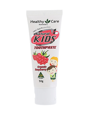 Healthy Care Natural Kids Toothpaste (Organic Raspberry Flavour) 50g