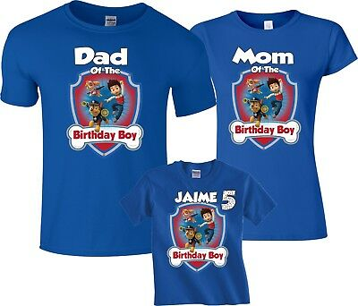 Paw patrol Birthday Boy Family Funny Cute Customized matching T-Shirts