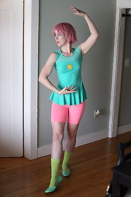 Steven Universe Pearl Cosplay Costume Fancy Dress Outfit Gem Wig