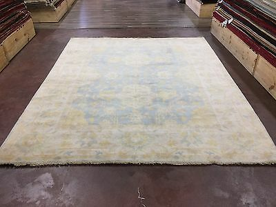 "On Sale Great Deal Hand Knotted Oushak Rug  Carpet Geometric 8x10,7'11""x9'9"""
