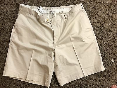 $98 NWT Peter Millar Men's Flat Front Casual Shorts Size 44