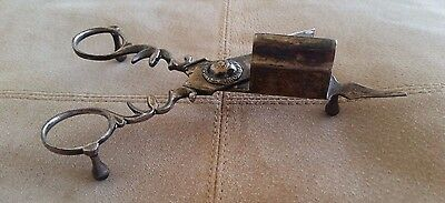 Vintage ornate Silver Victorian style candle snuffer wick trimmer