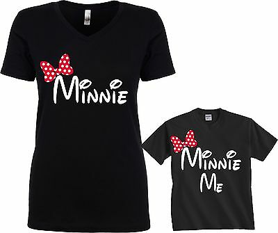 Mommy & Me Minnie Minnie Me Cute funny matching T-shirts