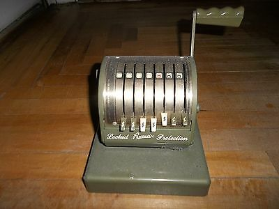 VINTAGE PAYMASTER Series X-550 Check Writer Stamping Machine Locked Protection
