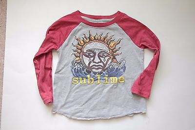 SUBLIME Concert TEE Toddler shirt, Long sleeve T-shirt, 3T, Grey Red