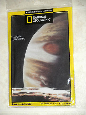 NIP - National Geographic Moon/Planet STRETCHABLE BOOK COVER-free U.S. Shipping