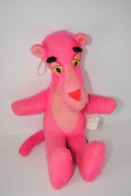 Vintage 1964 Pink Panther Stuffed Animal Doll Plush Mighty Star Canada Cartoon