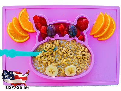 baby silicone placemat and plate tray for infants toddlers and kids FDA approved